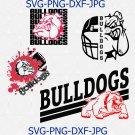 Bulldogs SVG, Football SVG, Bulldogs Mascot Football T-shirt Design, Football Mom Shirt