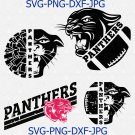 Panthers SVG, Football SVG, Grunge Panthers Football Design, Distressed Svg