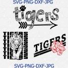 Tigers SVG, Football SVG, Tigers Football Sister T-shirt Design, Football Mom Shirt