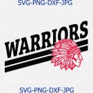 Warriors SVG, Football SVG, Warriors Football T-shirt Design, Warriors Baseball