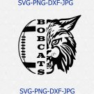 Bobcats SVG, Football SVG, Bobcats Football T-shirt Design, Football Mom Shirt