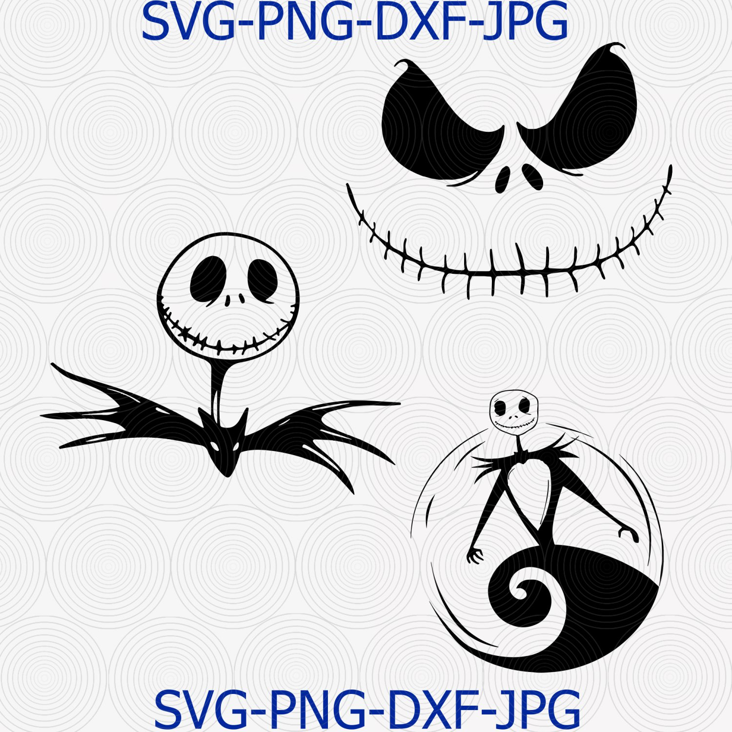 Jack Skellington Svg, Nightmare Svg, Jack Skellington Stencil, Nightmare Before Christmas Cut File