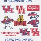Houston Cougars Svg, Football Svg, Houston Cougars logo, vector for cricut, Sport Svg