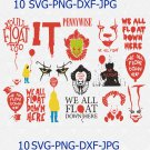 Pennywise Clown SVG Pennywise Art It Movie SVG Pennywise The Clown Cut File It Movie Clown Svg