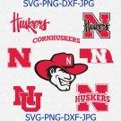 Nebraska Cornhuskers Svg, Football Svg, files for cricut, Sport Svg, eps, png, dxf