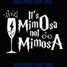 It's mimOsa not mimosA Funny Mimosa cocktail Harry Potter Leviosa Quotes SVG