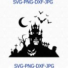 Halloween svg, Haunted House svg, halloween svg files, halloween cut file