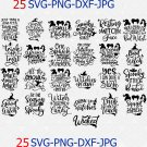 Halloween Bundle 25 Quotes Design Svg Png Cut File, Halloween Party Svg, Halloween Shirts