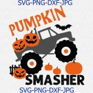 Sublimation Transfer, Heat Transfer Vinyl, Decal, Pumpkin Smasher