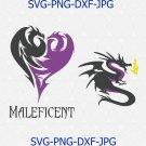 Maleficent SVG File, Disney Descendants SVG, Disney Maleficent Dragon SVG