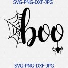 Halloween SVG, boo SVG File Silhouette Cutting File Cricut Download Print iron