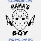 Jason Voorhees Mamas Boy Digital Download, Halloween SVG, Horror Movie SVG, Cricut Cut File
