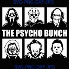 The Psycho Bunch Movie Creepy Halloween Horror Friends Team SVG PNG