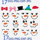 Snowman Faces Svg, Christmas Snowman svg, Christmas Clip Art, Snowboy SVG, Winter svg