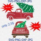 Christmas Tree Truck SVG, Merry Christmas SVG, Christmas Svg, Red Truck Svg