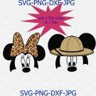 Mickey and Minnie heads Safari, Disney quote, Disney SVG, Disney clipart, Disney world svg