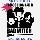 You Coulda Had A Bad Witch Svg Png Cut File, Halloween Svg, Sanderson Sisters Svg