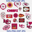 Kansas city chiefs Svg, BaseBall Svg, FootBall Svg, Silhouette Svg, Bundle Sport Svg, Cutting Files