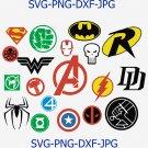 Superheroes SVG, marvel svg, hulk svg, Superhero logo clipart, wonder woman svg, spiderman logo