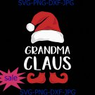 Grandma Claus Funny Santa Claus Hat Christmas Family Matching SVG