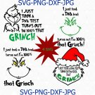 I just took a DNA test turns out I'm 100% that Grinch, grinch svg, christmas svg