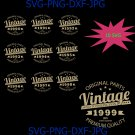 Vintage Birthday 1990-1999 Svg Cut File, Aged to Perfection Svg, Birthday Svg, Vintage T-Shirt