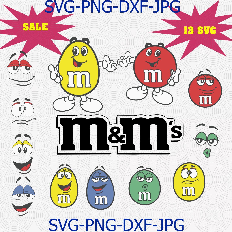 M&M faces bundle SVG, m and m tshirt clipart set, M&M faces shirt, M&m Character svg
