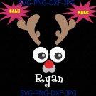 Christmas svg, Reindeer face svg, funny reindeer svg, reindeer Antlers svg