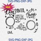 Dear Santa Cookies And Milk Svg Png, Merry Christmas Svg, Santa Cookies Svg