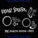 Dear Santa Cookies Tray svg, Santa Cookies Tray, Santa Cookies plate