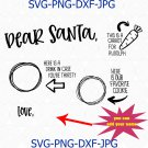 Dear Santa Cookies and Milk Doodle Tray Digital SVG, Santa Cookies Tray