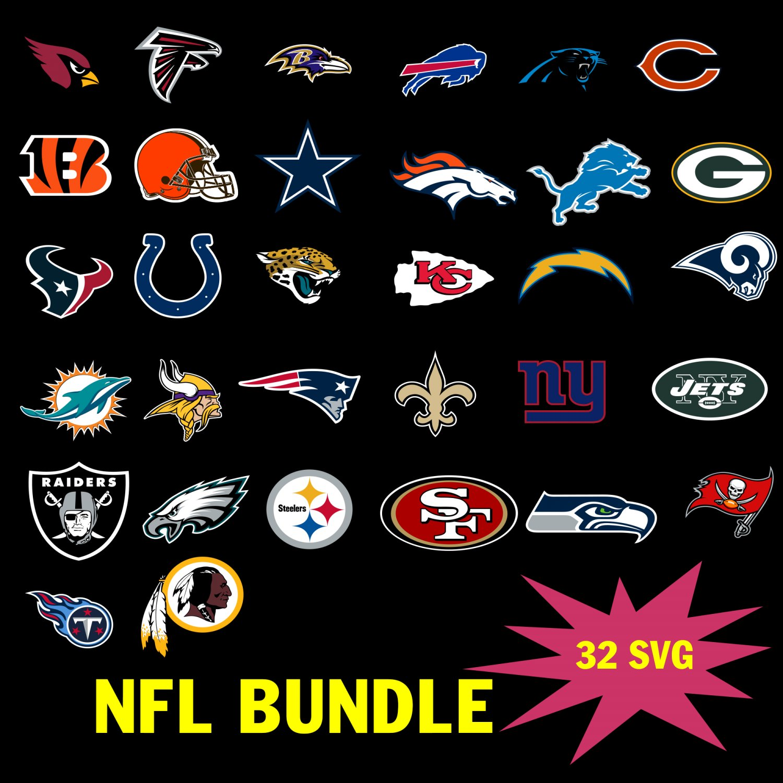 Nfl Logos Svg Bundle, NFL Team, NFL Football team svg, cowboys, green bay packer