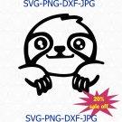 Cute Sloth SVG   Sloth Clipart   Sloth Png Cut File for Cricut Sloth Clip Art