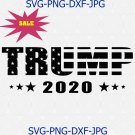 Trump 2020 Make America Great Again Election 2020 American Flag Text Silhouette