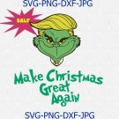 Make Christmas Great Again Parody SVG PNG, Grinch Donald Trump svg