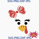 Turkey Face SVG, Turkey SVG, Thanksgiving SVG , Christmas Svg, Holiday Svg