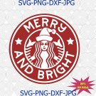 Christmas Coffee Starbucks SVG | PNG, Silhouette, Cricut, Instant Download