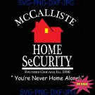 McCallister Home Security Digital Download, Home Alone Iron-On Transfer