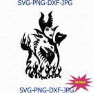 Maleficent Digital Download, Dragon Iron,On Transfer, DXF, Maleficent SVG