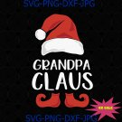 Grandpa Claus Funny Grandfather Santa Claus Hat Christmas Family Matching SVG
