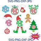Christmas Monogram SVG,Christmas Elf Monogram Frame svg,Christmas SVG