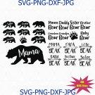 Bear Family SVG Bundle Mama Bear Papa Bear Brother Bear Sister Bear Svg
