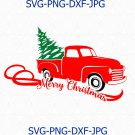 Christmas truck svg,Holidays svg, Vector design Santa, silhouette Pickup truck png
