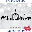 Nativity SVG, Nativity scene svg, Christmas SVG, Holiday Decoration Decal
