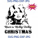 Holly Dolly Christmas|SVG File|Cutting File|Dxf|Png|Jpeg|Instant Download