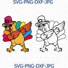 Dabbing Turkey Digital File, Dabbing Turkey Svg, Thanksgiving Day Svg