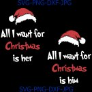 All I want for Christmas Digital File, Christmas Svg, Santa Hat Svg, Holliday Svg