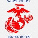 USMC United States Marine Corps emblem logo SVG Silhouette Clipart Cricut