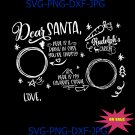 Canadian Version Dear Santa Cookies And Milk Svg Png, Merry Christmas Svg