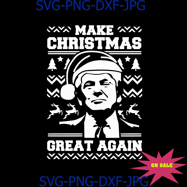 Trump Make Christmas Great Again Funny Trump Santa Claus Red Hat Ugly Sweater